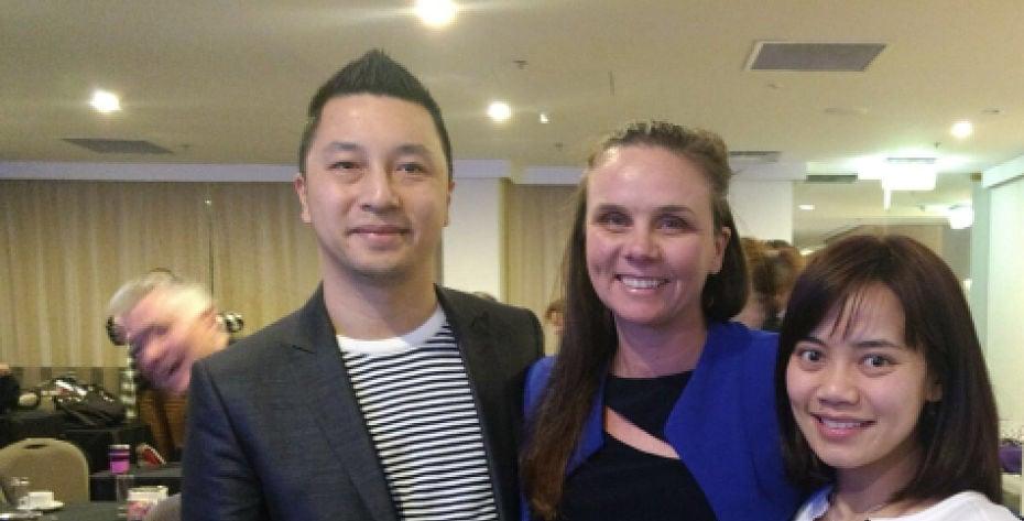 Dr Ling, Dr Gregory and Dr Tio at the Melbourne Vestibular Workshop
